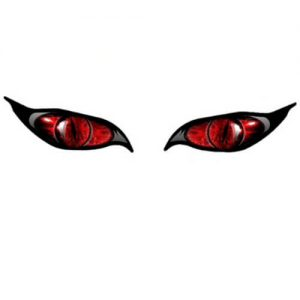 Aufkleber Zombie Augen